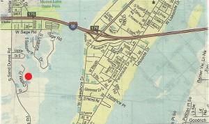 Map to Camas Cove Cellars in Moses Lake, Washington